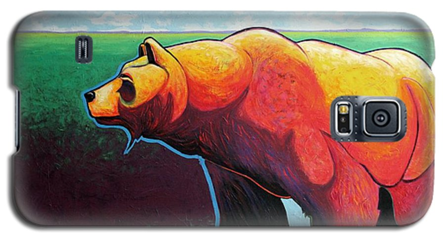 Grizzly Bear Galaxy S5 Case featuring the painting In His Prime by Joe Triano
