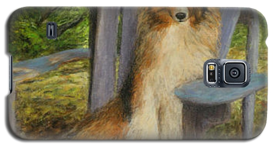 Pets Galaxy S5 Case featuring the painting In Memory Of Esha by Chris Neil Smith