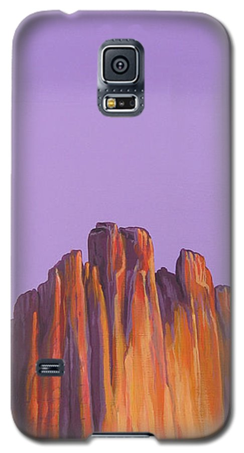 Landscape Galaxy S5 Case featuring the painting Inscription Rock by Hunter Jay