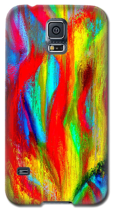 Abstract Galaxy S5 Case featuring the painting Inspire Experiment by Stan Hamilton