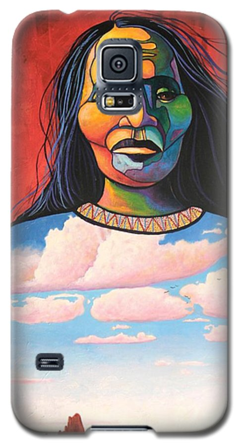 Native American Galaxy S5 Case featuring the painting Into Her Spirit by Joe Triano