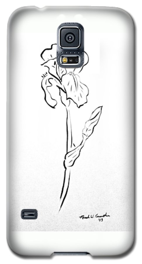 Abstract Galaxy S5 Case featuring the drawing Iris II by Micah Guenther