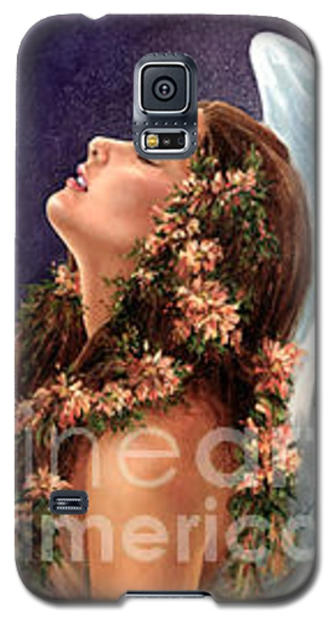Angel Galaxy S5 Case featuring the painting Island Angel by Wendy Froshay