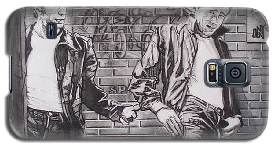 Americana Galaxy S5 Case featuring the drawing James Dean Meets The Fonz by Sean Connolly