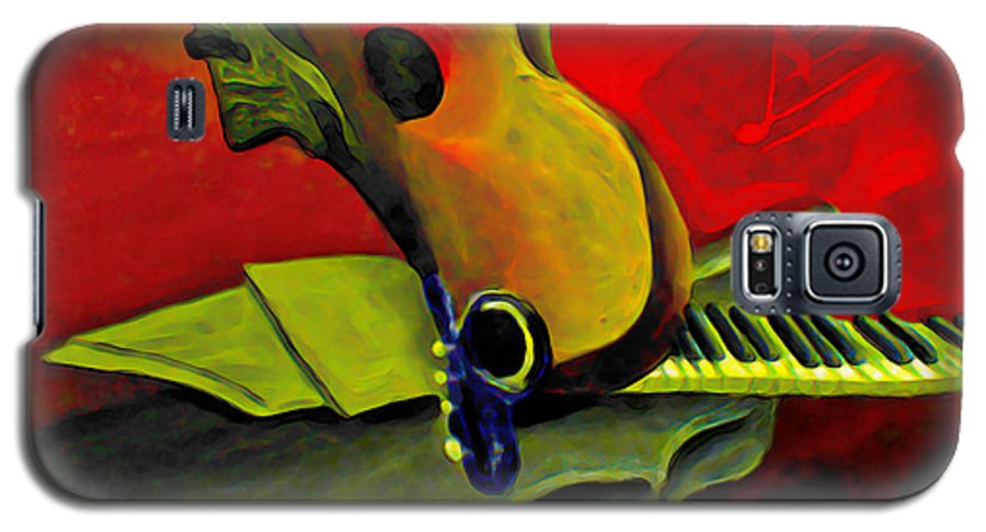 Abstract Galaxy S5 Case featuring the painting Jazz Infusion by Fli Art