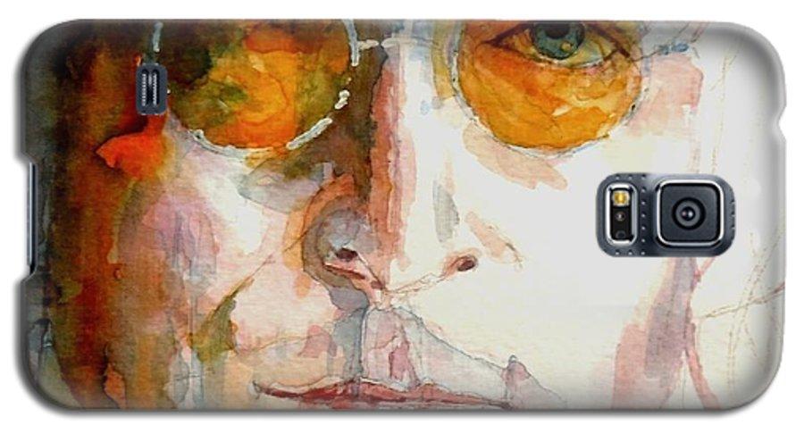 John Lennon Galaxy S5 Case featuring the painting John Winston Lennon by Paul Lovering
