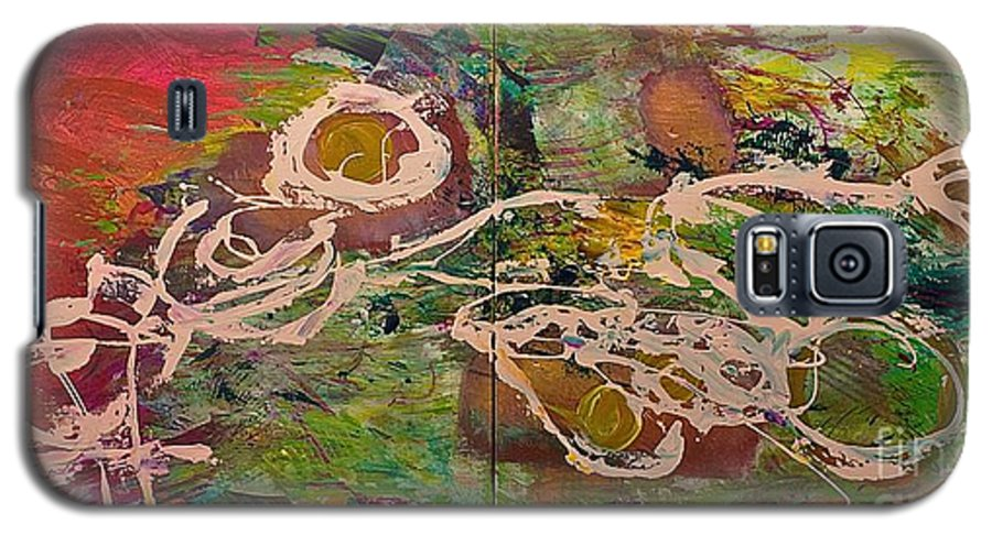 Landscape Galaxy S5 Case featuring the painting Journey Forth by Allan P Friedlander