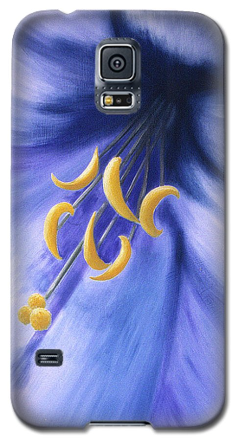 Blue Galaxy S5 Case featuring the painting Joy by Christina Rahm Galanis