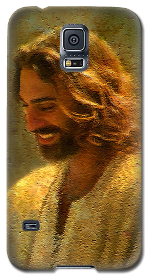 Jesus Galaxy S5 Case featuring the painting Joy Of The Lord by Greg Olsen