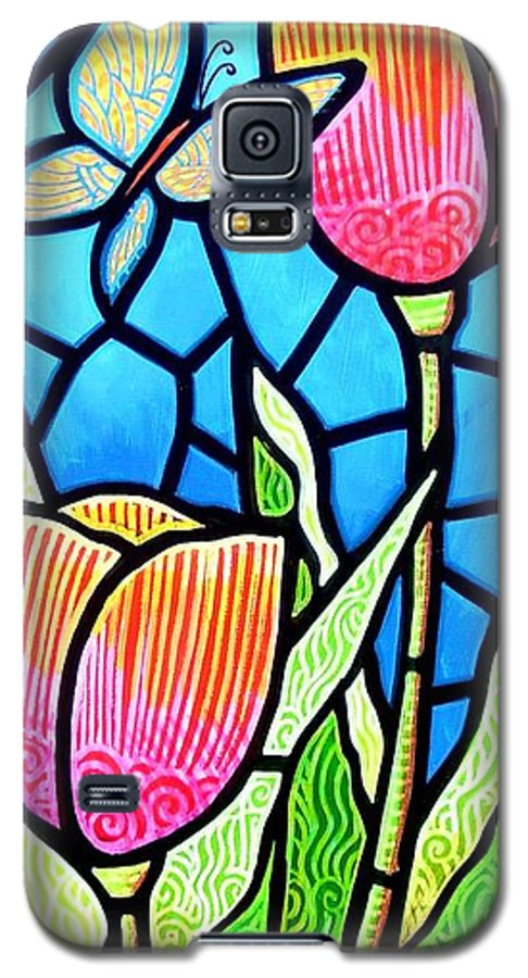 Butterflies Galaxy S5 Case featuring the painting Just Visiting by Jim Harris
