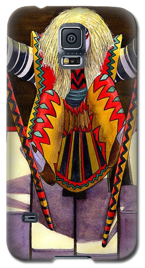 Kabuki Galaxy S5 Case featuring the painting Kabuki Chopsticks 1 by Catherine G McElroy