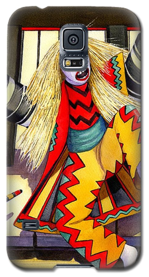 Kabuki Galaxy S5 Case featuring the painting Kabuki Chopsticks 3 by Catherine G McElroy