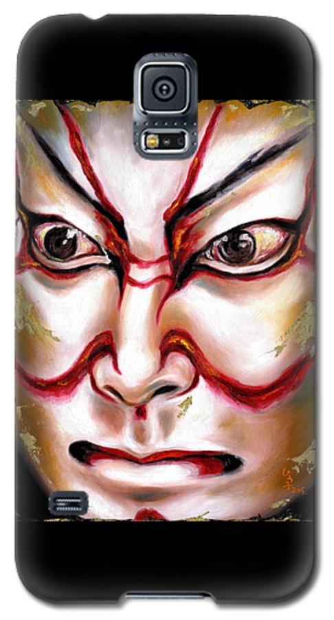 Kabuki Galaxy S5 Case featuring the painting Kabuki One by Hiroko Sakai