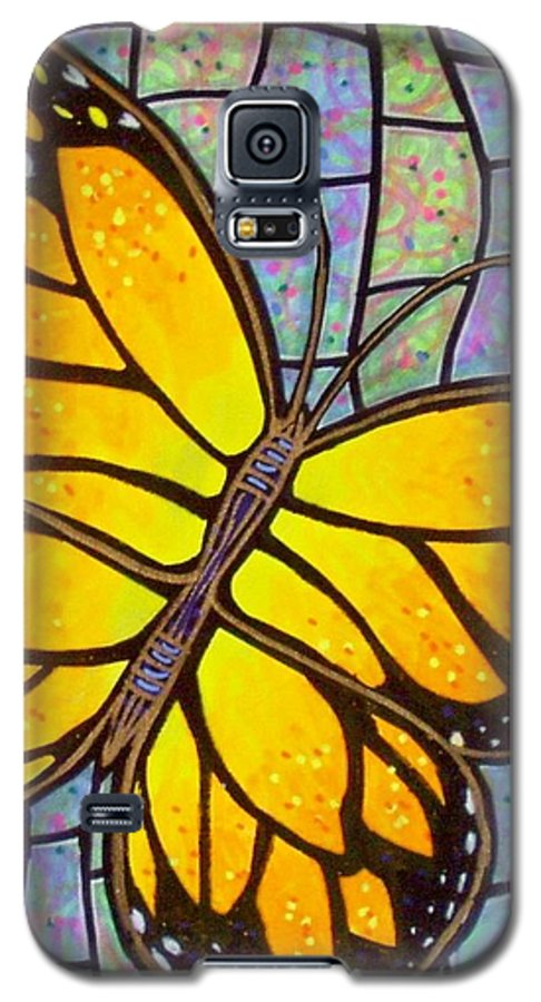 Butterflies Galaxy S5 Case featuring the painting Karens Butterfly by Jim Harris