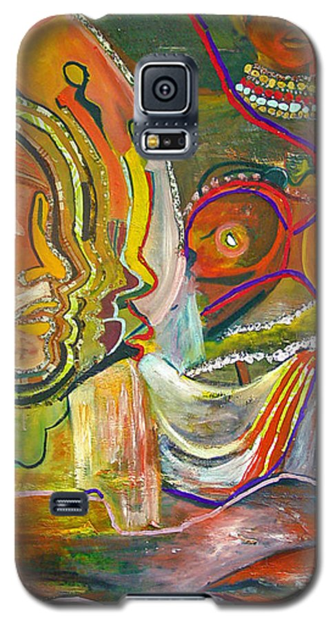 Impressionism Galaxy S5 Case featuring the painting Koulikoro Woman by Peggy Blood