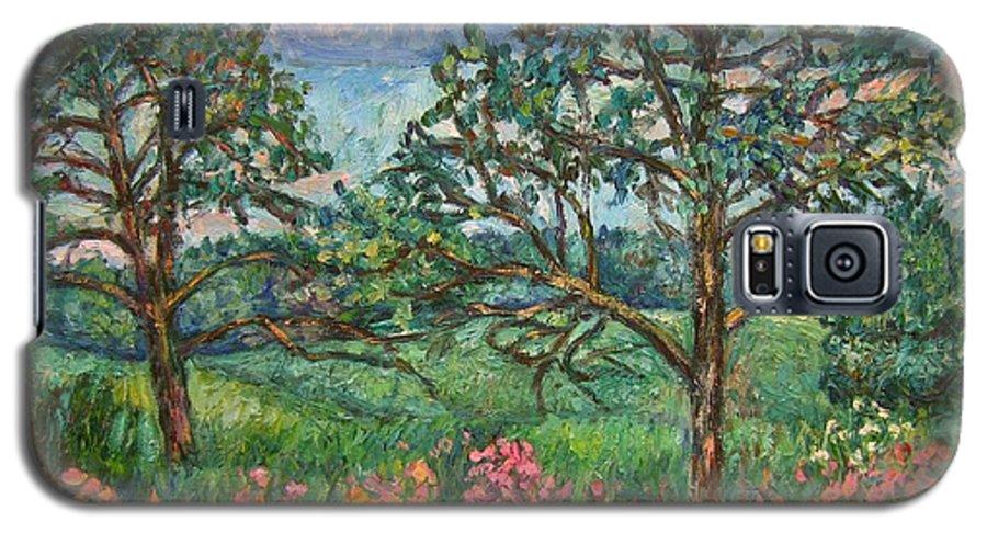 Landscape Galaxy S5 Case featuring the painting Kraft Avenue In Blacksburg by Kendall Kessler