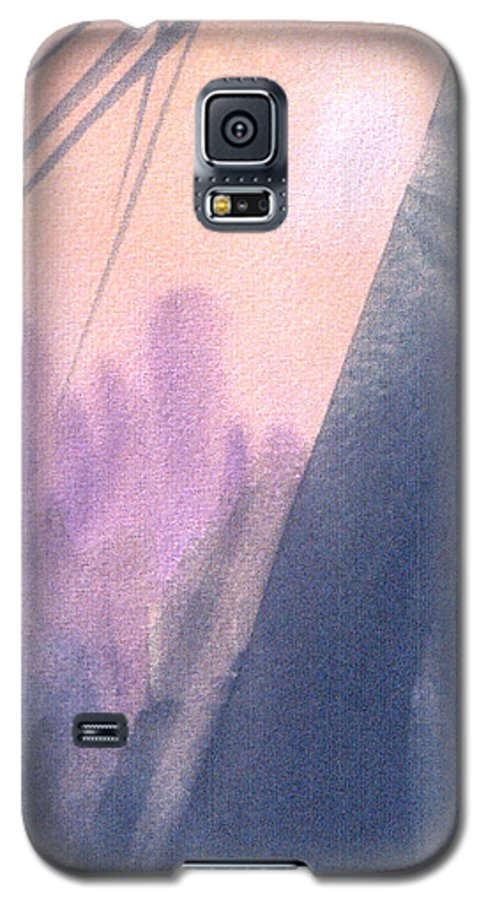 Landscape Galaxy S5 Case featuring the painting La Morning by Christina Rahm Galanis