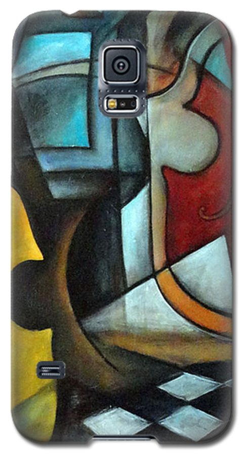 Abstract Galaxy S5 Case featuring the painting La Musique 1 by Valerie Vescovi