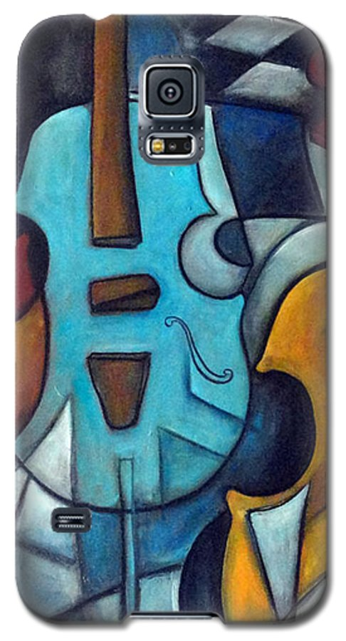 Music Galaxy S5 Case featuring the painting La Musique 2 by Valerie Vescovi