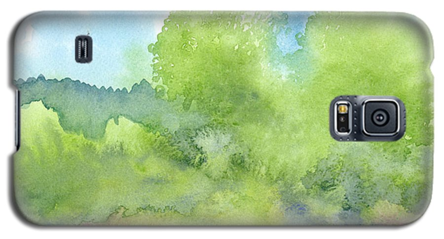 Landscape Galaxy S5 Case featuring the painting Landscape 1 by Christina Rahm Galanis