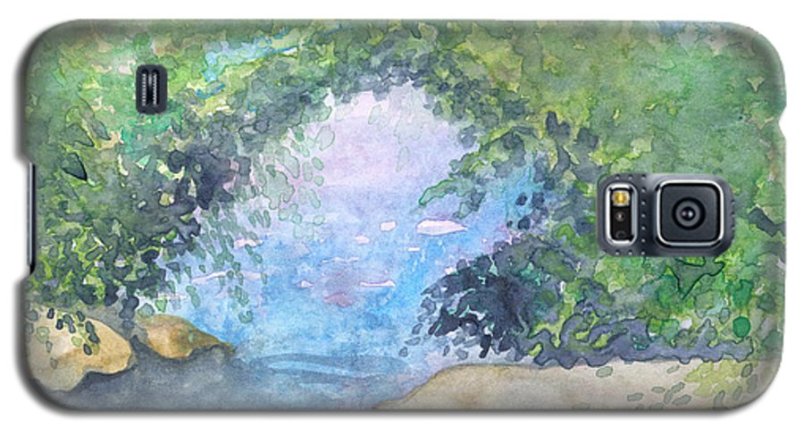 Landscape Galaxy S5 Case featuring the painting Landscape 2 by Christina Rahm Galanis