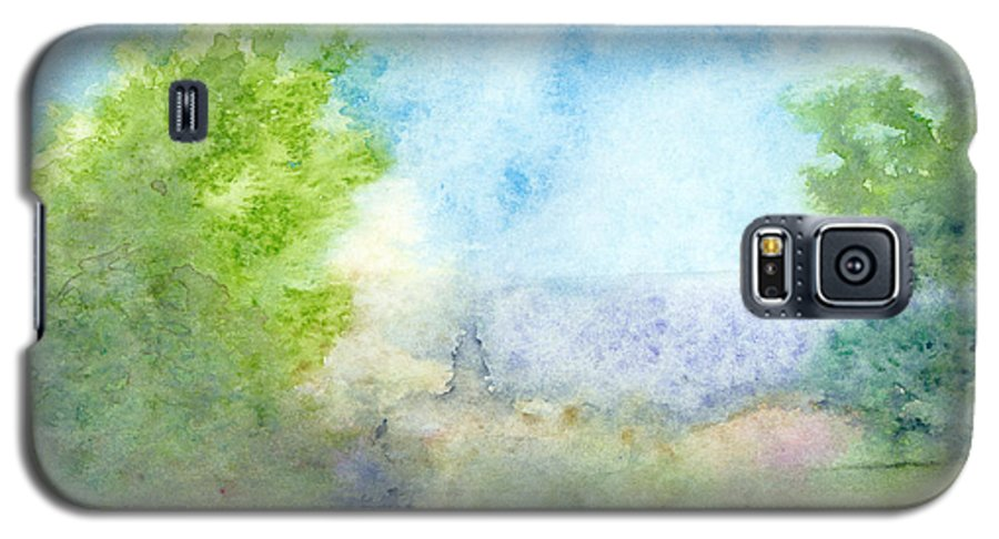 Landscape Galaxy S5 Case featuring the painting Landscape 4 by Christina Rahm Galanis