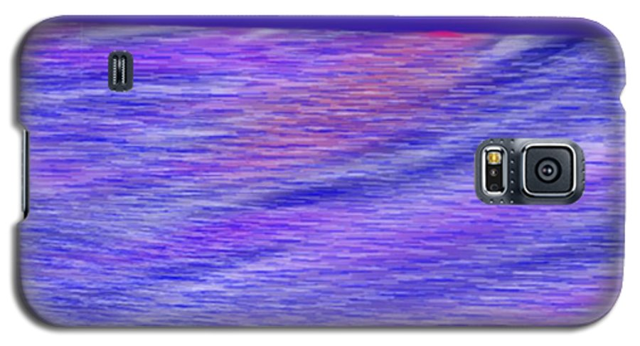 Sky.stars.sea.reflection.waves.evening.rest.silence. Galaxy S5 Case featuring the digital art Last Ray Of Sun by Dr Loifer Vladimir