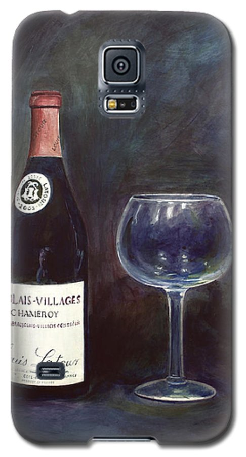 Lime Painting Galaxy S5 Case featuring the painting Latour Wine Buon Fresco 3 Primary Pigments by Don Jusko