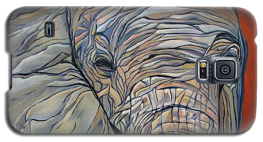 Elephant Galaxy S5 Case featuring the painting Lazy Boy by Aimee Vance