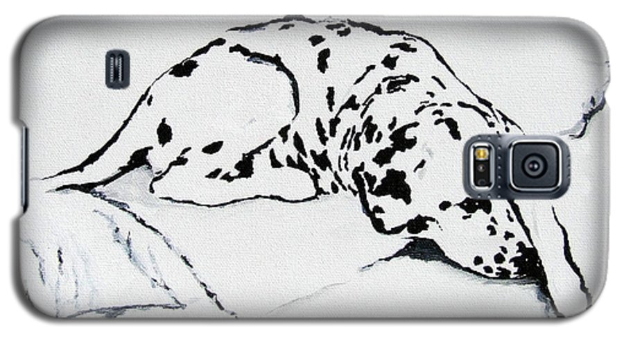 Dogs Galaxy S5 Case featuring the painting Lazy Day by Jacki McGovern