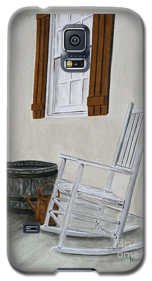 Americana Galaxy S5 Case featuring the painting Lazy Day by Regan J Smith