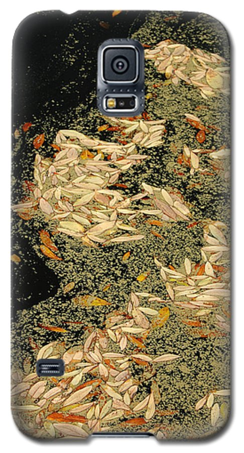 Klimt Galaxy S5 Case featuring the photograph Leaf Abstract Ode To Klimt by Suzanne Gaff