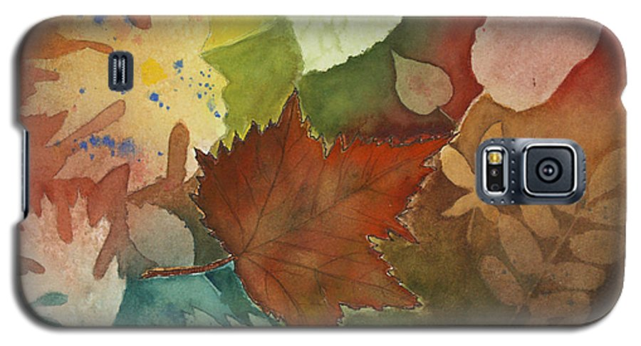 Leaves Galaxy S5 Case featuring the painting Leaves Vl by Patricia Novack