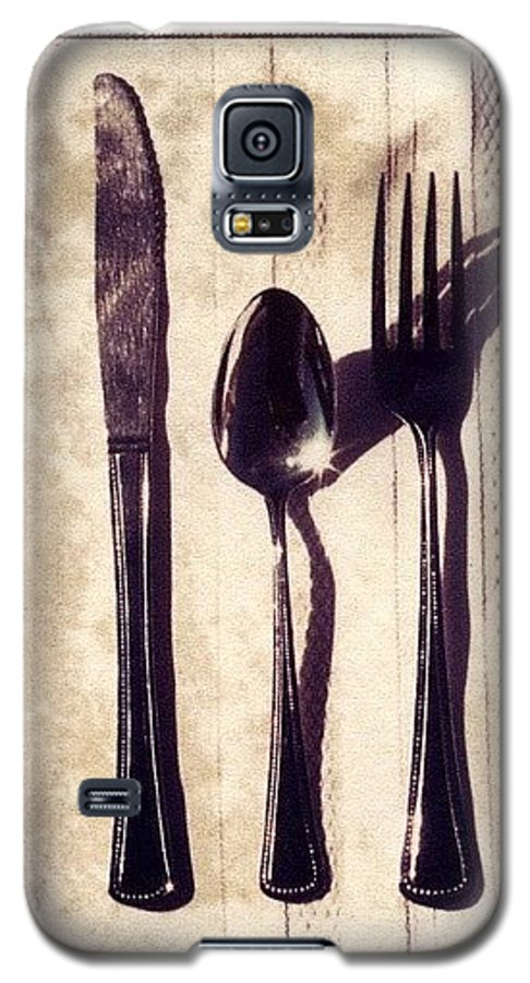 Forks Galaxy S5 Case featuring the photograph Lets Eat by Jane Linders