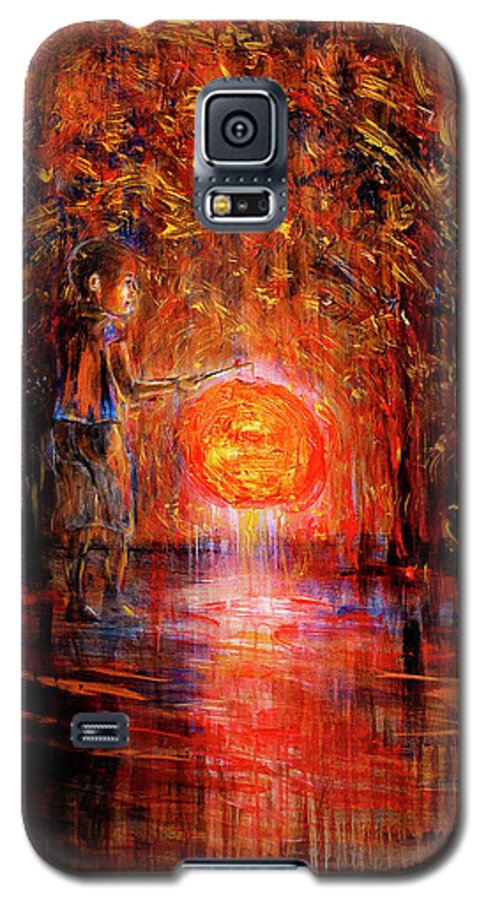 Lantern Galaxy S5 Case featuring the painting Light by Nik Helbig