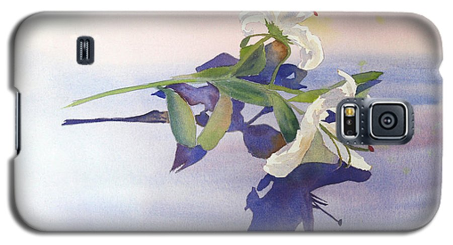 Lily Galaxy S5 Case featuring the painting Lilies At Rest by Patricia Novack
