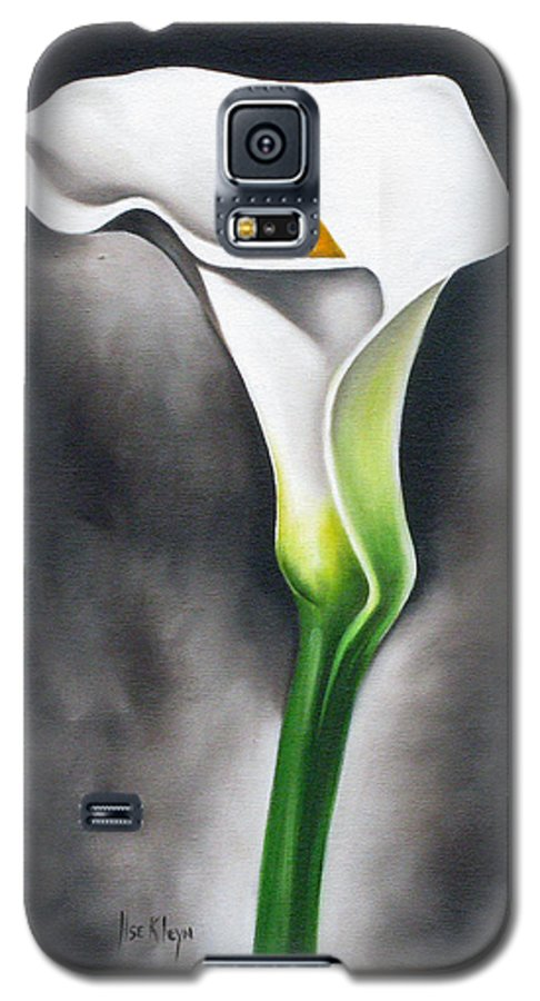 Lilly Galaxy S5 Case featuring the painting Lily by Ilse Kleyn