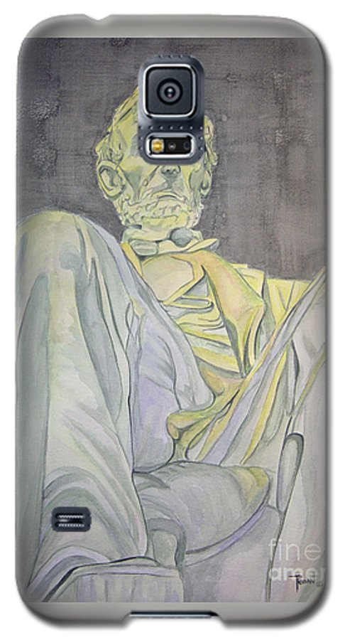 Presidents Galaxy S5 Case featuring the painting Lincoln by Regan J Smith