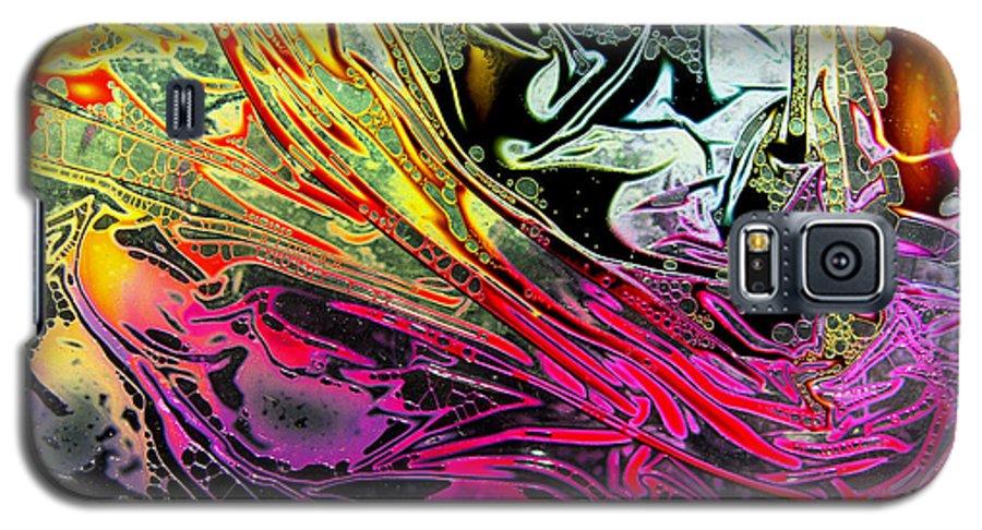 Surrealism Galaxy S5 Case featuring the digital art Liquid Decalcomaniac Desires 1 by Otto Rapp