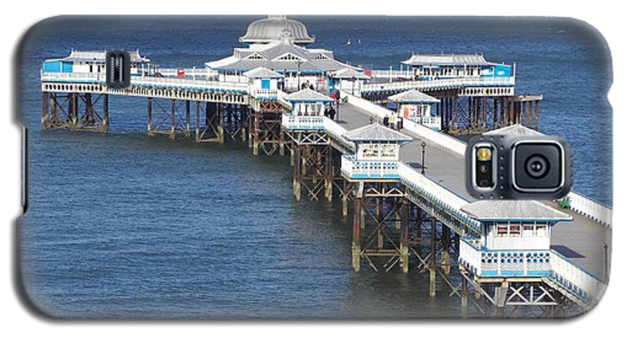 Piers Galaxy S5 Case featuring the photograph Llandudno Pier by Christopher Rowlands