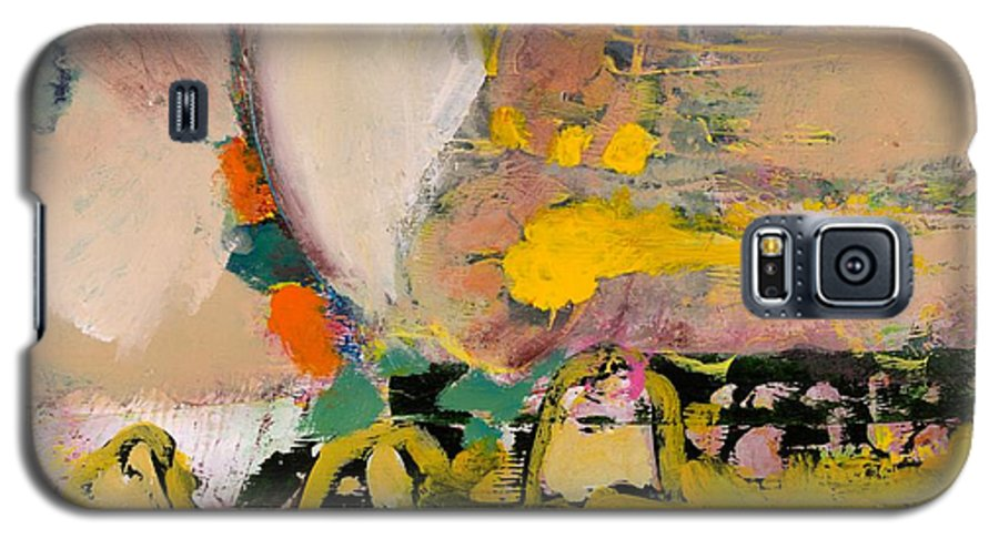 Landscape Galaxy S5 Case featuring the painting Locomotion by Allan P Friedlander