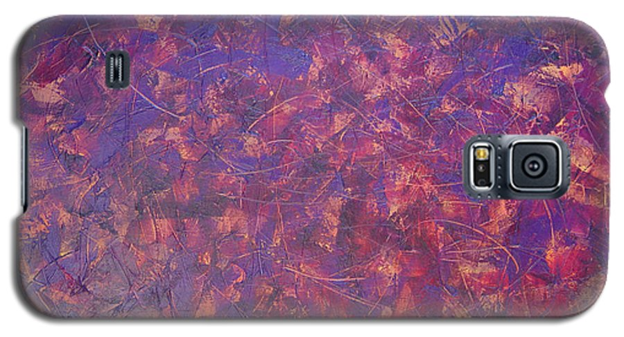 Abstract Galaxy S5 Case featuring the painting Long Beach 5am by Dean Triolo
