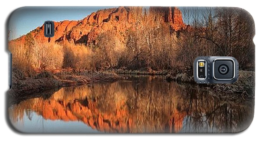 Galaxy S5 Case featuring the photograph Long Exposure Photo Of Sedona by Larry Marshall
