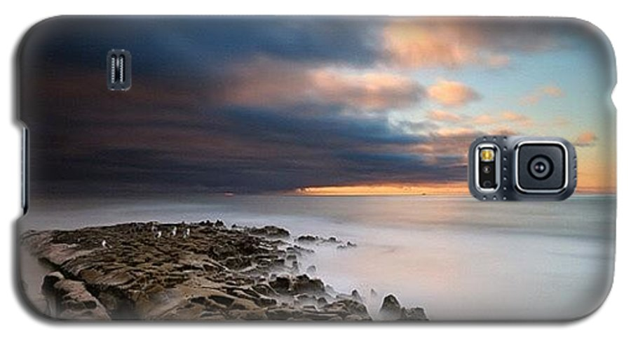 Galaxy S5 Case featuring the photograph Long Exposure Sunset Of An Incoming by Larry Marshall