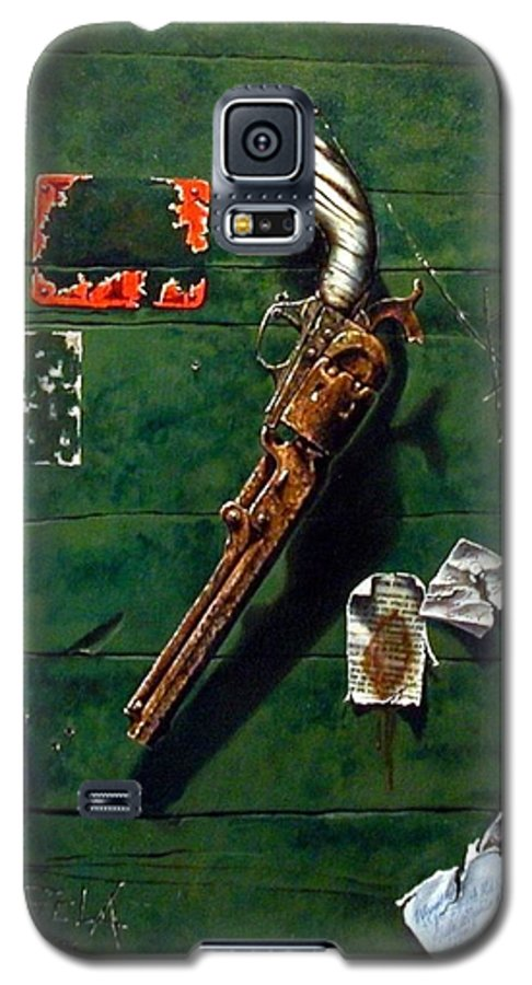 Trompe Le Oil Galaxy S5 Case featuring the painting Lost And Found by Jim Gola