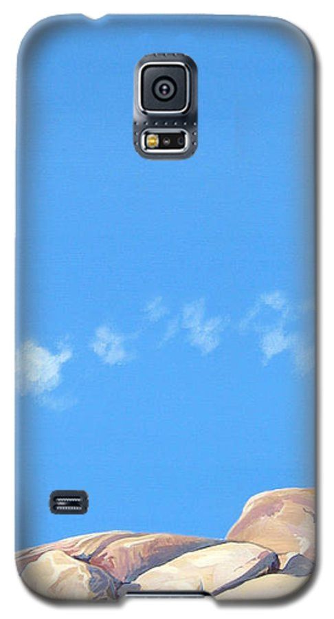 Rocks Galaxy S5 Case featuring the painting Lost Voices by Hunter Jay