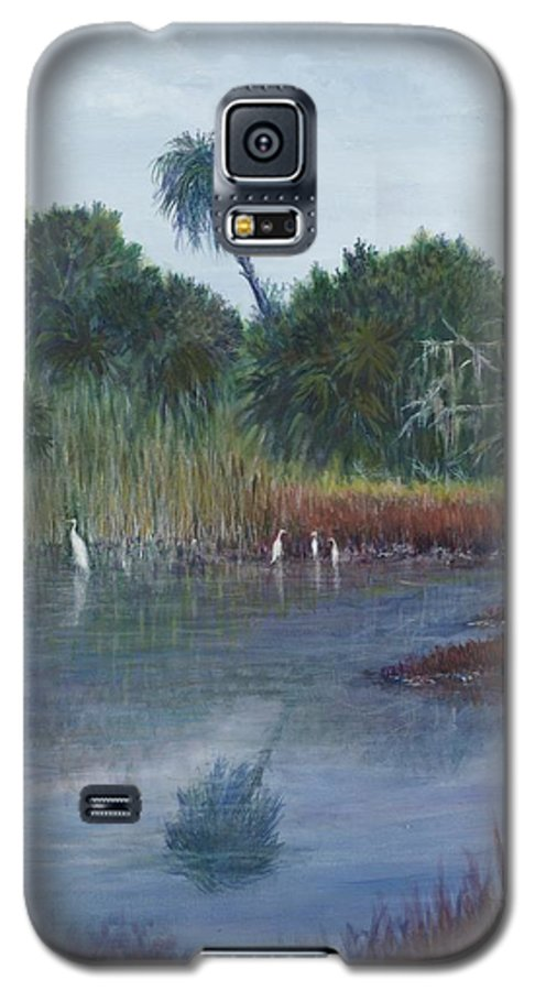 Landscape Galaxy S5 Case featuring the painting Low Country Social by Ben Kiger