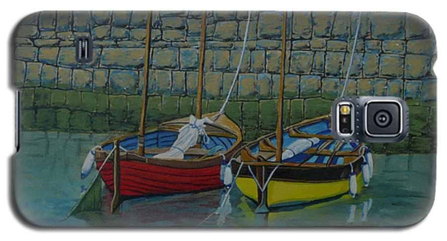 Rock Galaxy S5 Case featuring the painting Low Tide by Anthony Dunphy