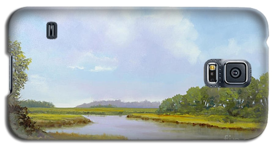 St. Simons Galaxy S5 Case featuring the painting Lowcountry Afternoon by Glenn Secrest