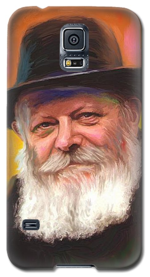 Lubavitcher Rebbe Galaxy S5 Case featuring the painting Lubavitcher Rebbe by Sam Shacked